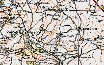 Old map of Mornick in 1919