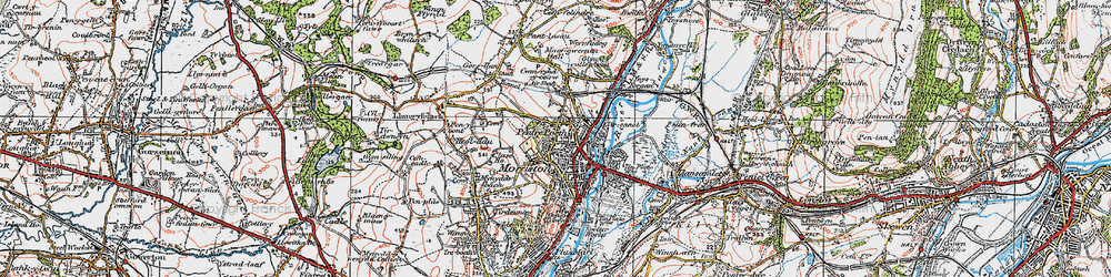 Old map of Morriston in 1923