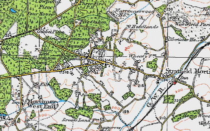 Old map of Mortimer in 1919
