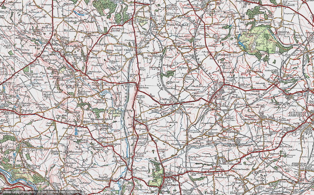 Old Map of Morton, 1923 in 1923
