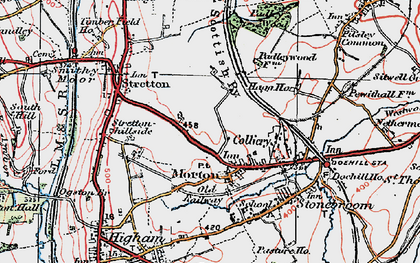 Old map of Morton in 1923