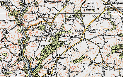 Old map of Morval in 1919