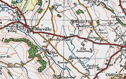 Old map of Tiddle Brook in 1921