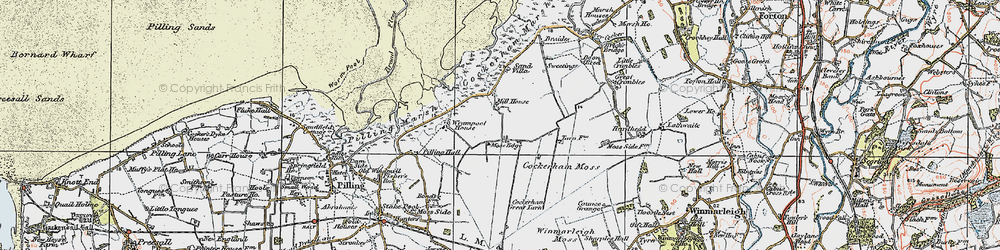 Old map of Wrampool Ho in 1924