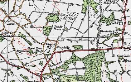 Old map of Moss Side in 1923