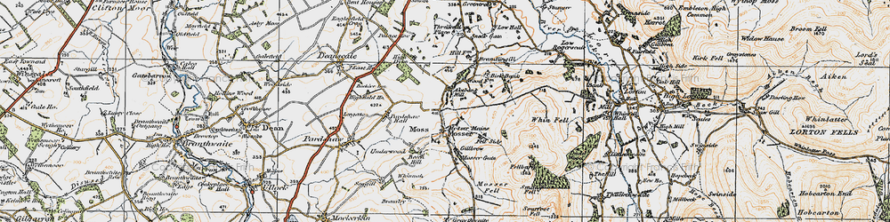 Old map of Akebank Mill in 1925