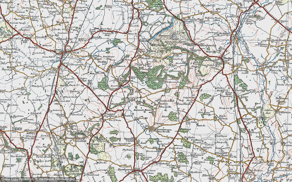 Old Map of Moston, 1921 in 1921