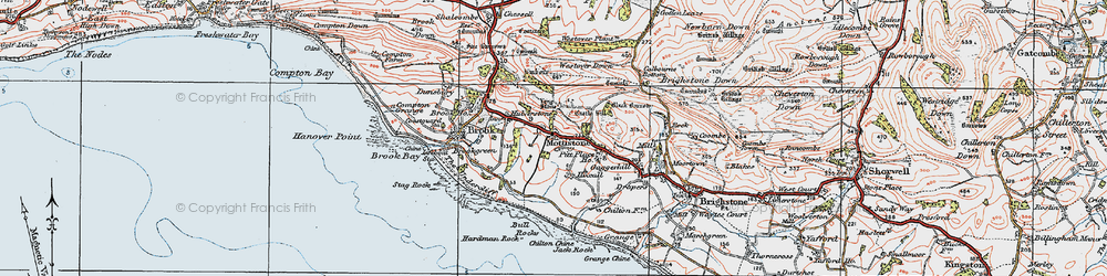 Old map of Westover Down in 1919