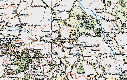 Old map of Adder's Moss in 1923