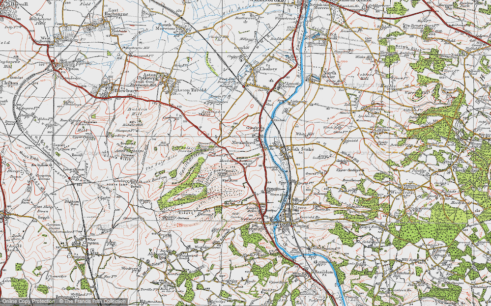 Old Map of Moulsford, 1919 in 1919
