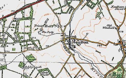 Old map of Ashley Heath Stud in 1920