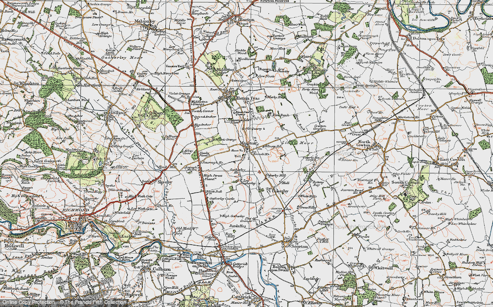 Old Map of Historic Map covering Abbey Close in 1925