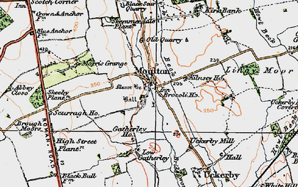Old map of Abbey Close in 1925