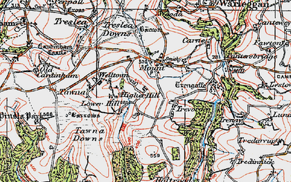 Old map of Mount in 1919