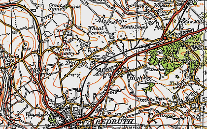 Old map of Mount Ambrose in 1919