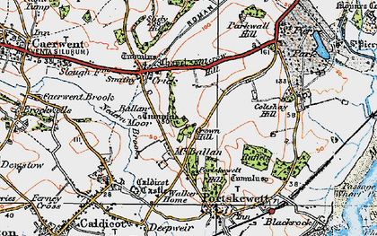 Old map of Ballan Moor in 1919