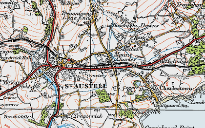 Old map of Mount Charles in 1919