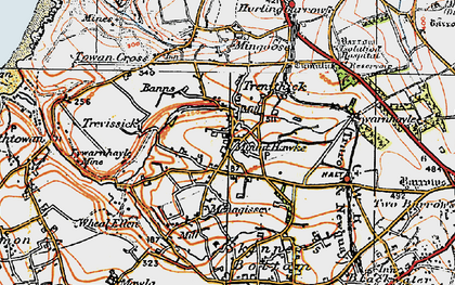 Old map of Mount Hawke in 1919