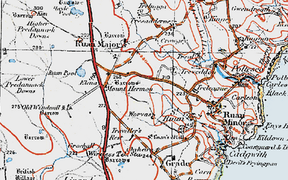 Old map of Mount Hermon in 1919