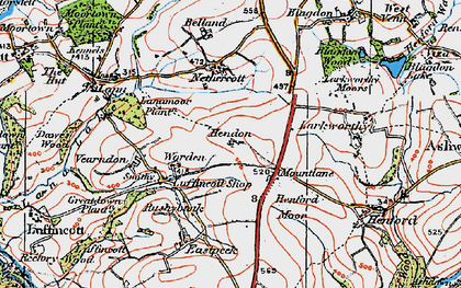 Old map of Yendon in 1919