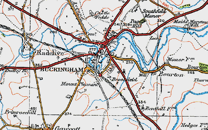 Old map of Mount Pleasant in 1919