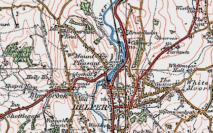 Old map of Mount Pleasant in 1921