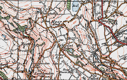 Old map of Mount Tabor in 1925