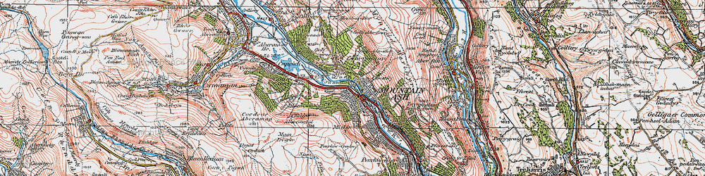 Old map of Mountain Ash in 1923