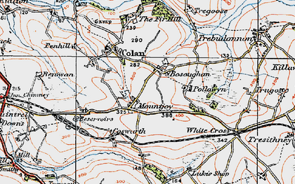 Old map of Mountjoy in 1919