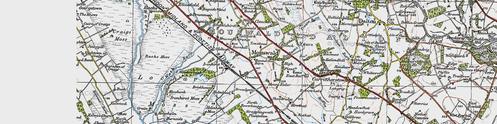 Old map of West Raffles in 1925