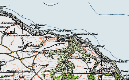 Old map of Windbury Point in 1919