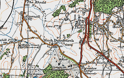 Old map of Much Dewchurch in 1919