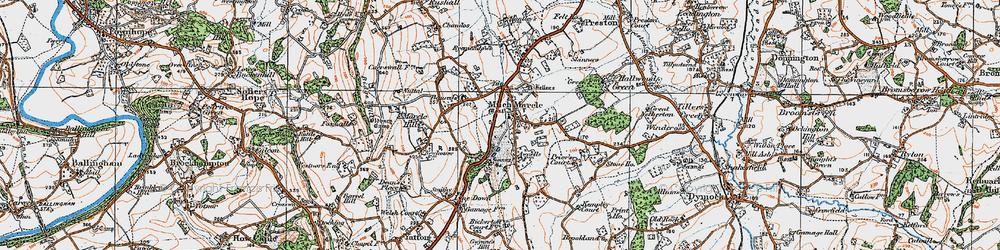 Old map of Much Marcle in 1919