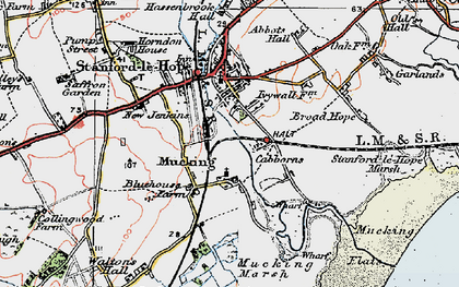 Old map of Mucking in 1920