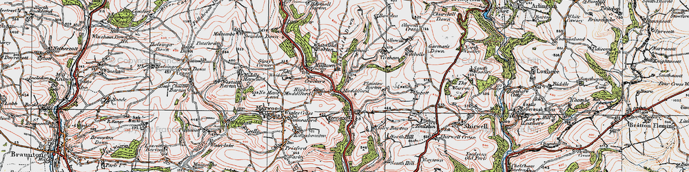 Old map of Whitefield Down in 1919