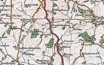Old map of Leasow in 1921