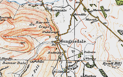 Old map of Bannerdale in 1925