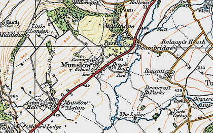 Old map of Aston Deans in 1921