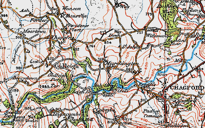 Old map of Murchington in 1919