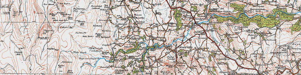 Old map of Withecombe in 1919