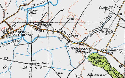 Old map of Whitecross Green in 1919