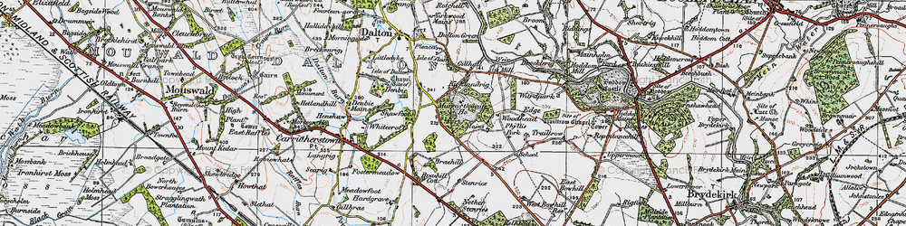 Old map of Woodhead in 1925