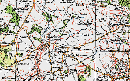Old map of Murton in 1923
