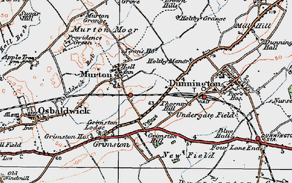 Old map of Yorkshire Museum of Farming in 1924