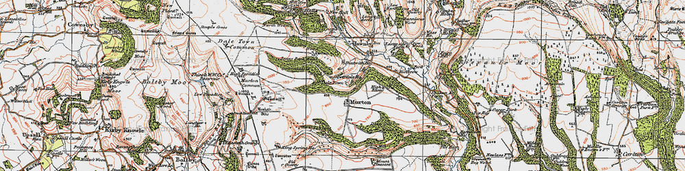 Old map of Wethercote in 1925