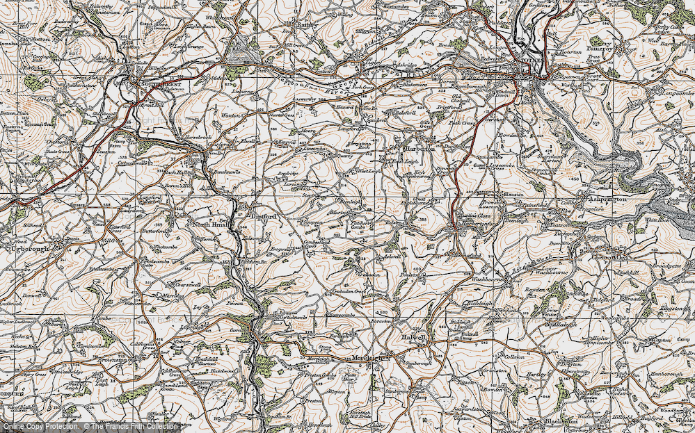 Old Map of Historic Map covering Larcombe in 1919