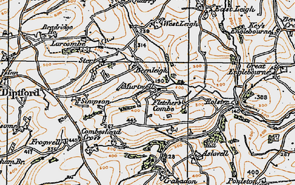 Old map of Ball Hill in 1919
