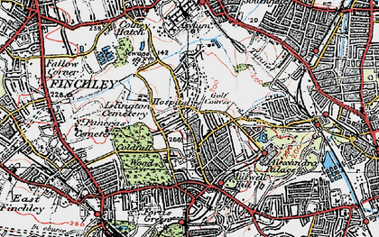 Old map of Alexandra Palace in 1920