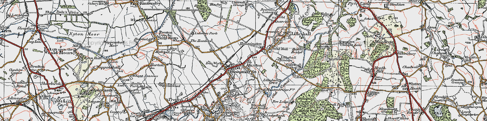 Old map of Lilleshall Grange in 1921