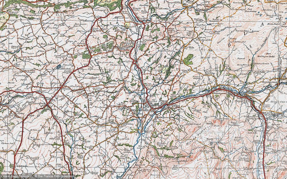 Old Map of Myddyn-fych, 1923 in 1923